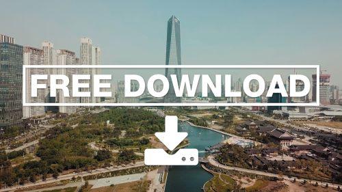 Korea - Central building and a park