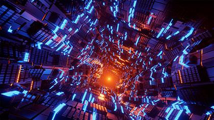 Backgrounds Cyberpunk Tunnel Footage