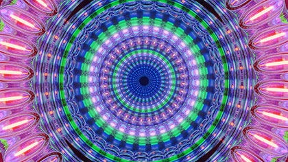 Backgrounds Kaleidoscopic Round Footage