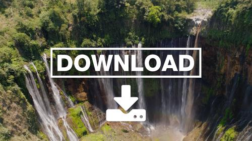 Waterfall Coban Sewu Java Indonesia