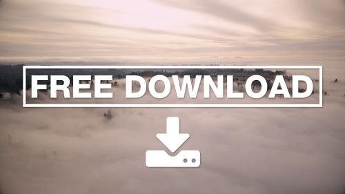 Aerial drone flying over the trees above the clouds Video